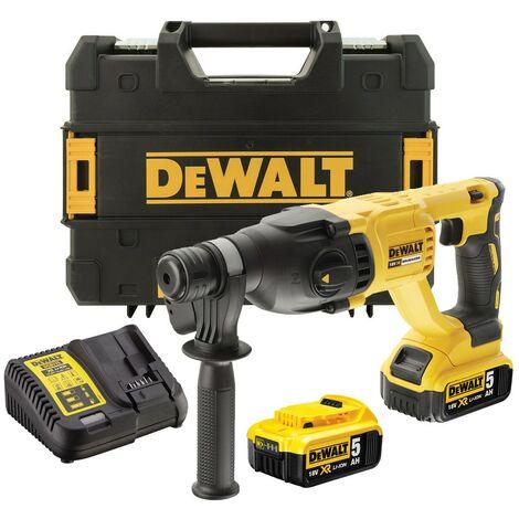 Dewalt DCH133P2 18v SDS+ Brushless Hammer SDS Drill 2 x 5.0ah Battery Tstak Case