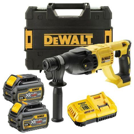 Dewalt DCH133T2 18v SDS+ Brushless Hammer SDS Drill 2 x 6.0ah Battery Tstak Case