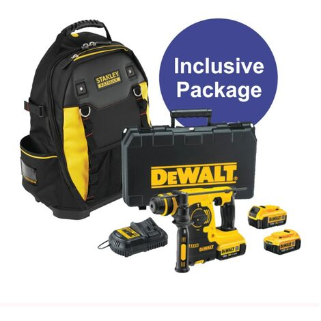 DeWalt DCH253M2-GB 18V SDS Hammer Drill, 3 x 4.0Ah Batteries and Charger in kit