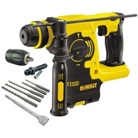 Dewalt DCH253N 18v 3kg SDS+ Rotary Hammer Drill Bare + 5 Piece SDS Set + Chuck