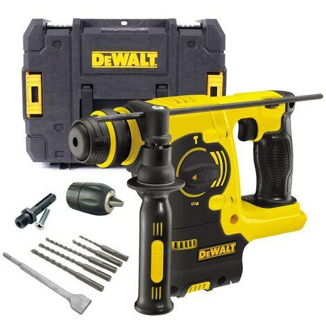 Dewalt DCH253N 18v 3kg SDS+ Rotary Hammer Drill Bare + Tstak Case + Chuck +Bits