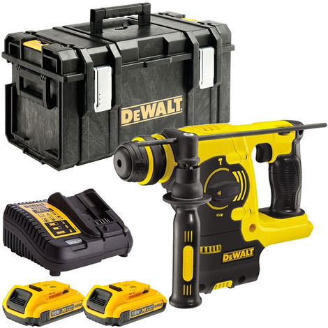 DeWalt DCH253N 18V SDS+ Hammer Drill with 2 x 2.0Ah Batteries & Charger in Case:18V