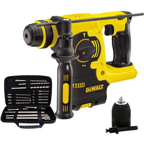 DeWalt DCH253N 18V SDS Plus Rotary Hammer Drill with 17 Piece Accessories Set & Chuck