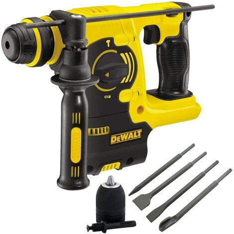 Dewalt DCH253N 18V SDS+ Rotary Hammer Drill & 4 Piece Chisel Set + Keyless Chuck