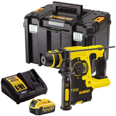 DeWalt DCH253N 18V SDS+ Rotary Hammer Drill with 1 x 4.0Ah Battery & Charger in TSTAK:18V