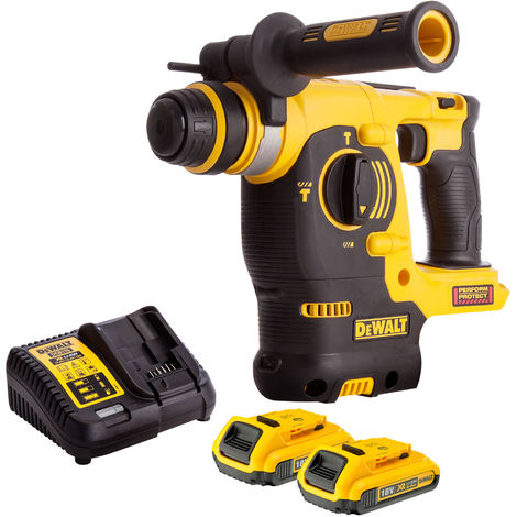 Dewalt DCH253N 18V SDS+ Rotary Hammer Drill with 2 x 2.0Ah Batteries & Charger:18V