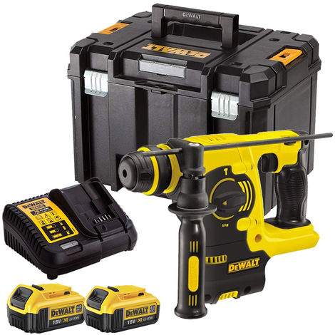 DeWalt DCH253N 18V SDS+ Rotary Hammer Drill with 2 x 4.0Ah Batteries & Charger in TSTAK:18V