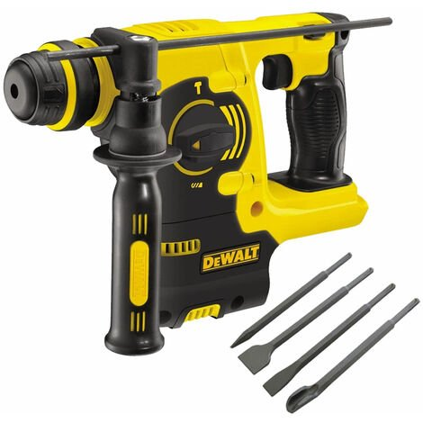 Dewalt DCH253N 18V SDS+ Rotary Hammer Drill with 4 Piece Chisel Set