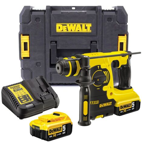 Dewalt DCH253P2 18v 3kg SDS+ Rotary Hammer Drill, 2 x 5.0ah Batt Charger + Case