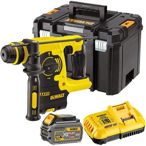 Dewalt DCH253T1 18V SDS+ Rotary Hammer Drill with 1 x 6.0Ah Battery Charger & TSTAK:18V