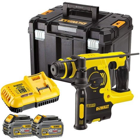 Dewalt DCH253T2 18V SDS+ Rotary Hammer Drill with 2 x 6.0Ah Batteries & Charger in TSTAK:18V