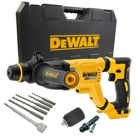 Dewalt DCH263N 18v Brushless SDS Hammer Drill 3 Mode Bare + Case + Chuck +Bits