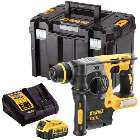 DeWalt DCH273N 18V Brushless SDS+ Hammer Drill with 1 x 4.0Ah Battery & Charger in TSTAK:18V