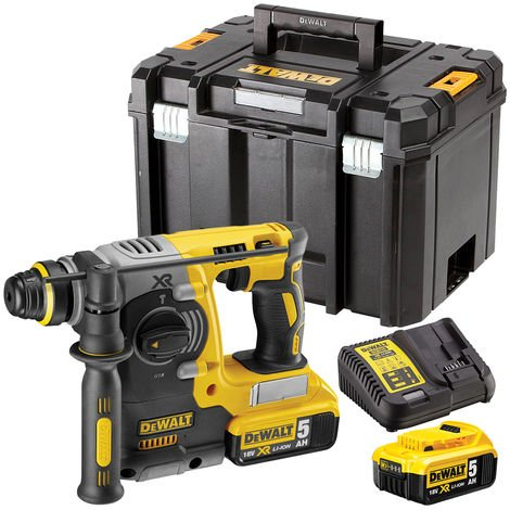 DeWalt DCH273N 18V Brushless SDS+ Rotary Hammer Drill with 2 x 5.0Ah Batteries & Charger in Case