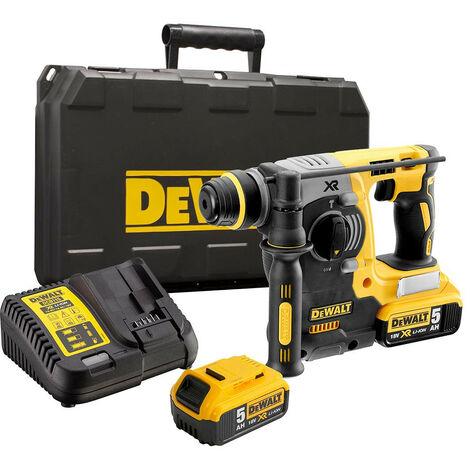 DeWalt DCH273P2 18V XR SDS+ Rotary Hammer Drill with 2x 5.0Ah Batteries