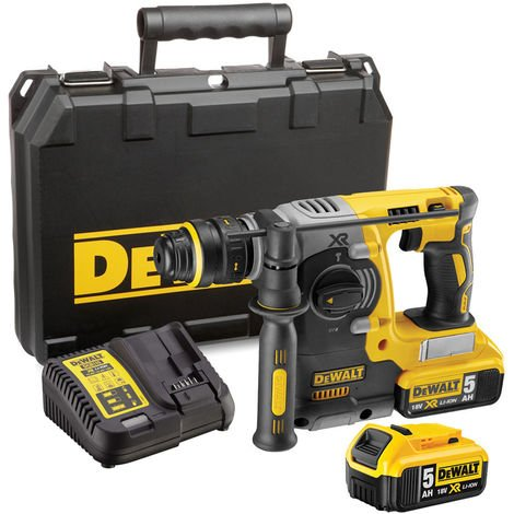 Dewalt DCH273P2 Rotary Hammer Drill Brushless SDS+ 18V 2 x 5.0Ah Batteries Charger:18V