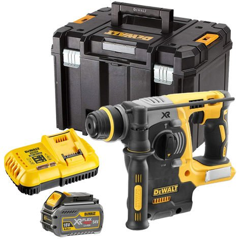 Dewalt DCH273T1 18V Brushless SDS+ Hammer Drill with 1 x 6.0Ah Battery & Charger in TSTAK:18V