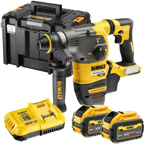 DeWalt DCH333X2 XR Flexvolt 54v SDS+ Hammer Drill with 2 x 9.0Ah Batteries