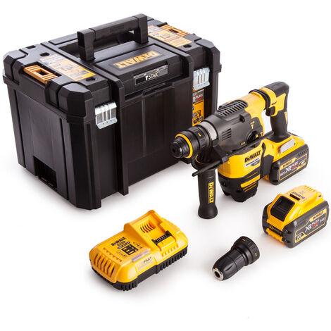 Dewalt DCH334X2 54V XR FlexVolt Brushless SDS Plus Hammer With 2 x 9.0Ah Batteries Charger In Case