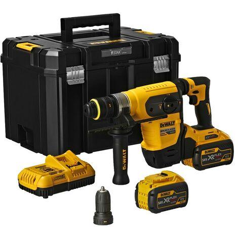 DeWalt DCH417X2 54v XR FlexVolt SDS + Plus Hammer Multi Drill Driver 2 x 9.0Ah