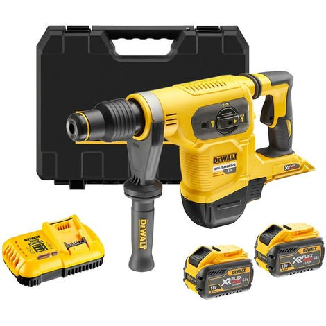 Dewalt DCH481X2 54V Brushless SDS-Max Hammer Drill with 2 x 9.0Ah Batteries & Charger in Case