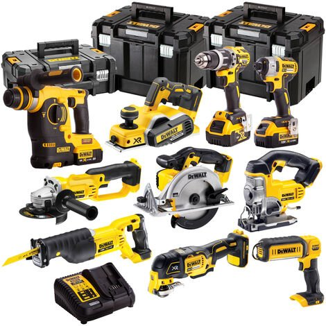 DeWalt DCK10BTSKIT2 18v XR Li-ion 10pc 4 x 4.0Ah Batteries T-Stak Kit