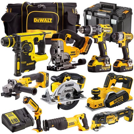 Dewalt DCK10BTSKIT2B 18V 10 Piece Combo Kit with 4 x 4.0Ah Batteries & Charger