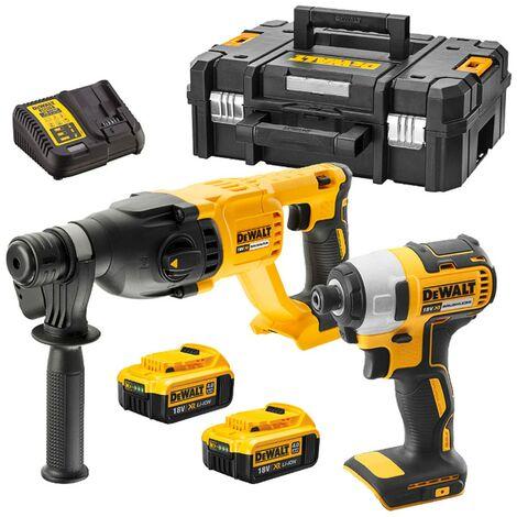 Dewalt DCK2023M2T 2 Piece 18v XR Cordless Kit - DCF787 Impact DCH133N SDS Drill