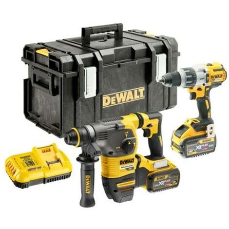 DeWalt DCK2033X2 DCH333 SDS+ Hammer Drill DCD996 3 speed combi drill with 9.0ah x 2 Kit