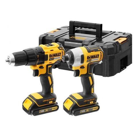 DeWalt DCK2059D2T-GB 18V 2x2Ah XR Li-ion Brushless Drill Driver/Impact Twin Kit