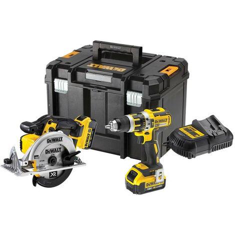 Dewalt DCK205M2T Twin Pack 18v DCD795 Drill Driver + DCS391 Circular Saw + Kit