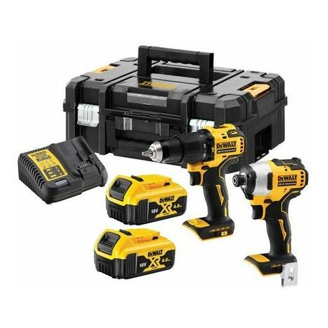 DeWalt DCK2062M2T-GB XR Brushless Compact Twin Pack 18V 2 x 4.0Ah Li-ion