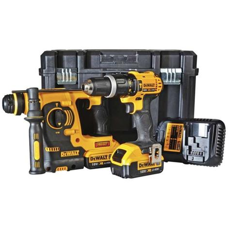 DeWALT DCK206M2T 18V XR 2 Piece Kit TSTAK 2 x 4.0ah Batteries