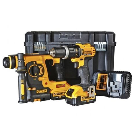 DeWalt DCK206M2T 18v XR SDS-Plus and Combi Twin Kit c/w 2x4.0Ah Batteries