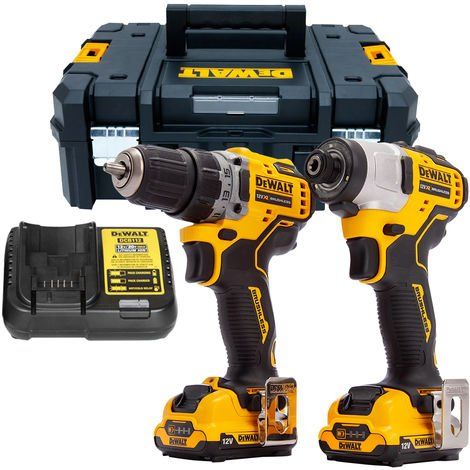 DeWalt DCK2110L2T 12V Brushless Drill Driver and Impact Driver With 2 x 3.0Ah Batteries:12V