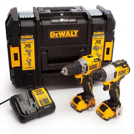 Dewalt DCK2110L2T 12V XR Sub Compact Twinpack with 2 x 3.0Ah Batteries