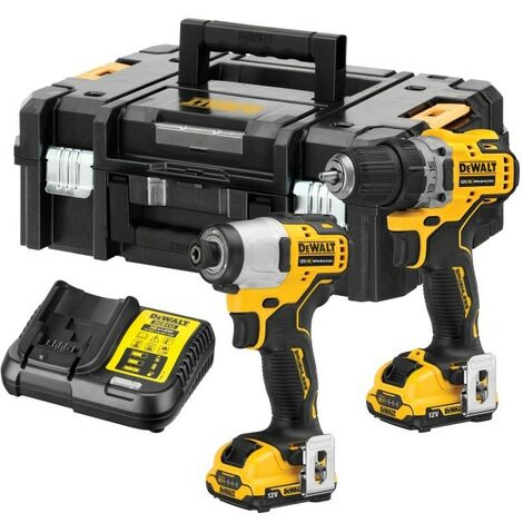 """main image of """"Dewalt DCK2111L2T 12v Brushless Sub Compact Twin Pack Combi Drill Impact Driver"""""""