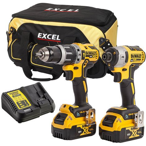 DeWalt DCK2500B2T2 18V Brushless Twin Kit:18V