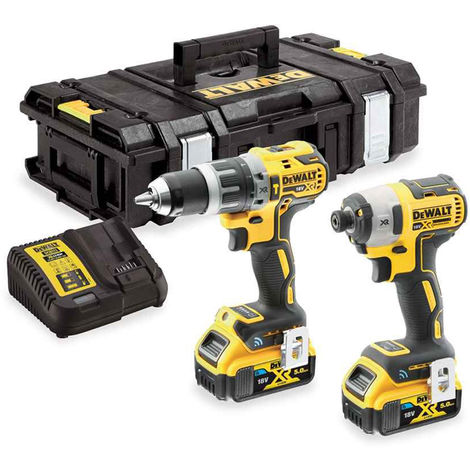 DEWALT DCK2500P2B 18V 2 x 5.0Ah Li-ion Brushless Tool Connect Twin Kit:18V