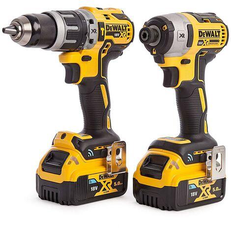 DeWALT DCK2500P2B 18V XR Tool Connect Hammer Drill & Impact Driver Kit