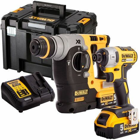 DeWalt DCK2532P2 18V XR Brushless Hammer Drill & Impact Driver With 2 x 5.0Ah Batteries Charger