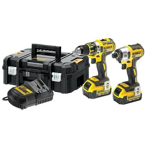 DeWalt DCK259M2T Combi Drill & Impact Driver Brushless Twin Kit