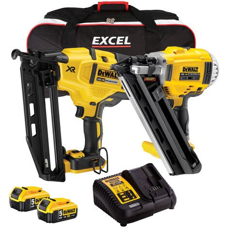 Dewalt DCK264B2T2 18V Brushless Nailer Twin Pack