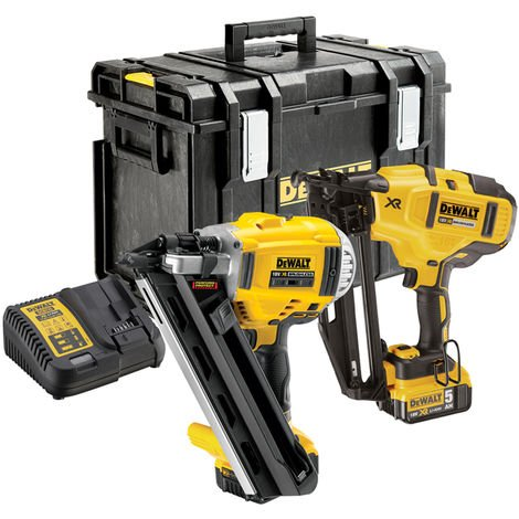 Dewalt DCK264P2 18V Brushless Nailer Twin Pack with 2 x 5.0Ah Batteries & Charger in Case