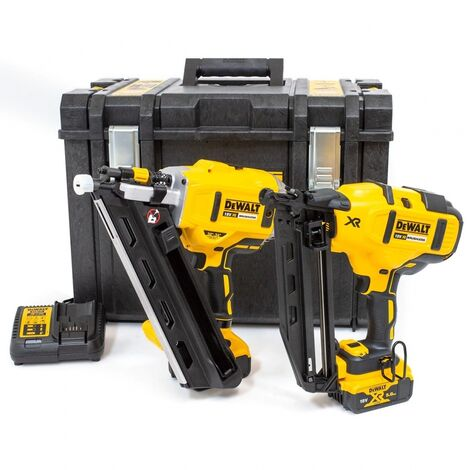 DeWalt DCK264P2 18V XR Brushless 1st and 2nd Fix Nailer Twin Pack with 2 x 5.0Ah Batteries