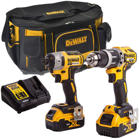 Dewalt DCK266D2-1 18V Brushless Twin Kit with 2 x 4.0Ah Batteries & Charger in Bag