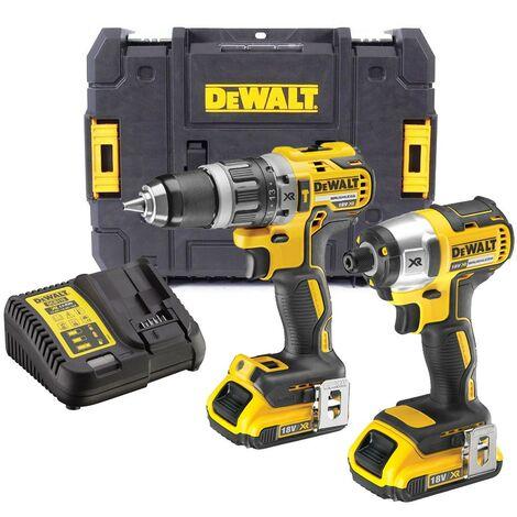 Dewalt DCK266D2T 18v Brushless DCD796 Combi Drill DCF887 Impact Driver 2 x 2.0ah