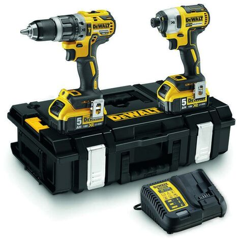 Dewalt DCK266P2 18V Brushless Twin Kit with 2 x 5.0Ah Batteries & Charger in Toolbox