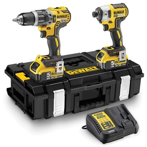 DeWalt DCK266P2 18V XR Brushless Combi Drill and Impact Driver Twin Kit