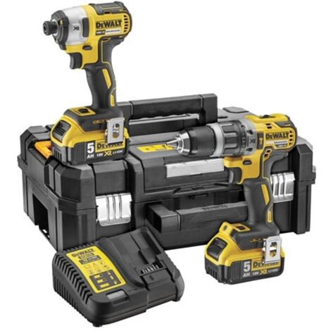 Dewalt DCK266P2T Combi Drill and Impact Driver Kit with 2 x 5.0Ah Batteries